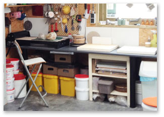 atelier voor speksteen en keramiek